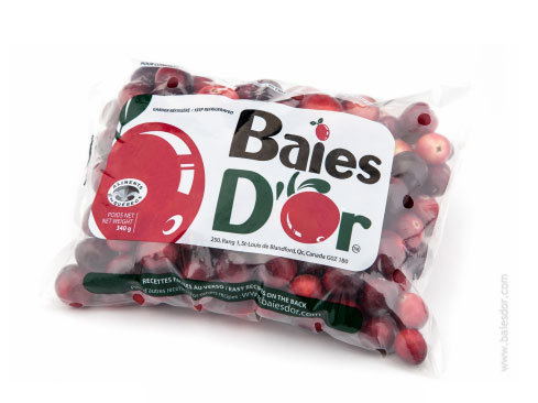 Baies d'Or fresh cranberry bag